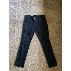 GAP black destroyed jeans.